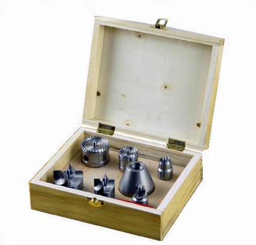 Woodworking lathe Thimble 7pcs Set of wooden box M25 1 inch 8 teeth M33x3 5 Woodworking