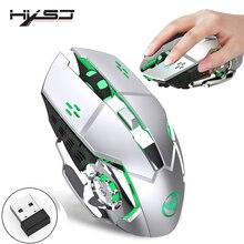 HXSJ 2.4g mouse da gioco 2400 dpi ricaricabile grigio 7 colori di retroilluminazione può essere spento mouse del PC per wireless USB del computer portatile