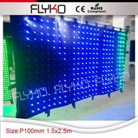 Wholesale Customized size P10 best viewing effect led visaion curtain screen for dj