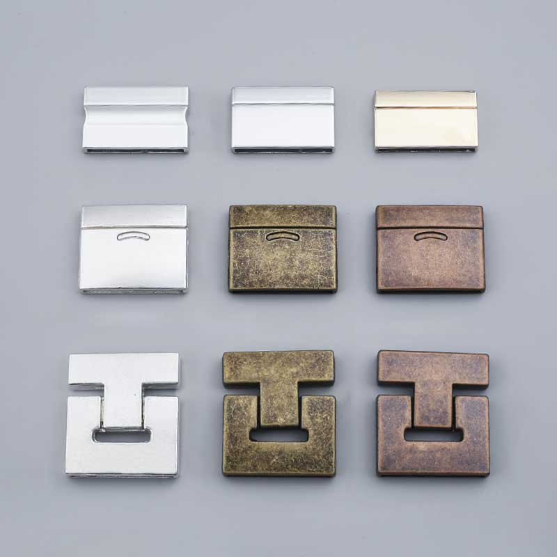 3Sets Brown/Silver Color Strong Magnetic Clasps Rectangle For 30*3mm Flat Leather Cord Bracelets Jewelry DIY Accessories