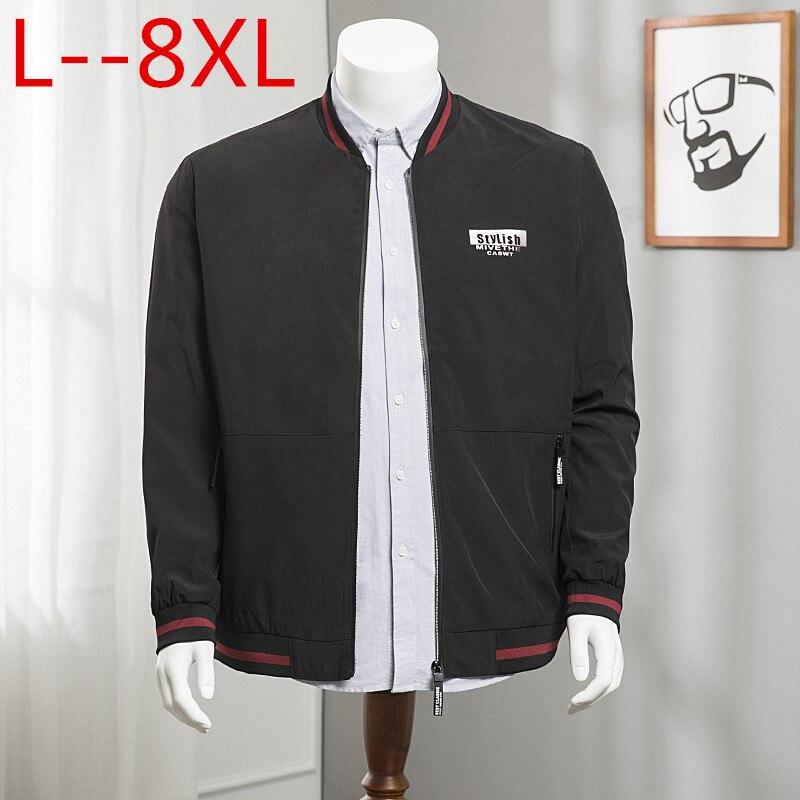 6xl Solide 8xl Top Veste Hommes Casual Streetwear 2 Mode Bombardier Printemps Pardessus 2018 Vestes De Automne Mince Baseball 4xl 1 shrdtQCx