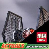 Lepin 05005 Genuine 562Pcs Star Plan Series The First Order Tie Set Fighter 75101 Building Blocks