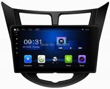 Rádio audio player de ouchuangbo para hyundai solaris accent verna 2011-2016 com android 9.0 gps 2gb ram 32gb rom