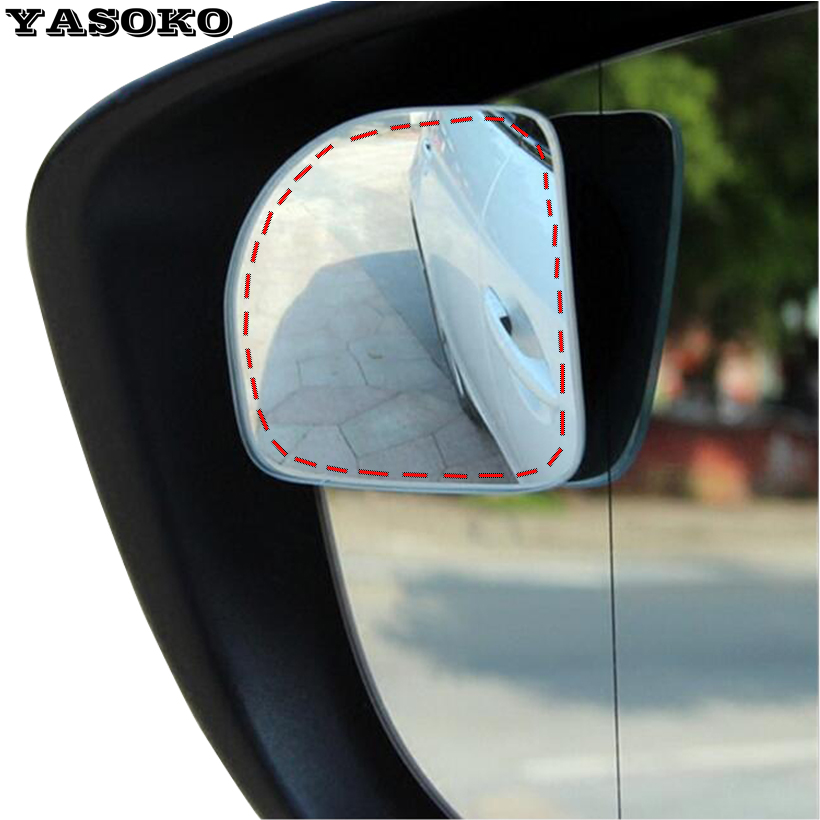 Original 360 Adjustable Degree frameless ultrathin Wide Angle Blind Spot mirror for parking Auxiliary rear view mirrors