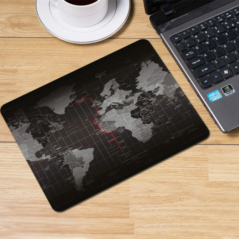 Gaming Mouse Pad Large Mouse Pad Gamer Mouse Mat Computer Mousepad Rubber Surface World Map Mause Pad Keyboard Desk Mat Game