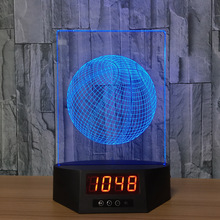 basketball Acrylic 3D Night Light LED Calendar Desk Lamp 7 Colors Changing Remote control Clock Creative Lamp bedroom lamp