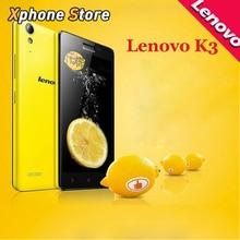 Original Lenovo Lemon K3 / K30-W 5.0 inch 4G LTE Phones Andriod 4.4 MSM8916 Quad Core 1.2GHz RAM 1GB ROM 16GB Dual SIM Phones