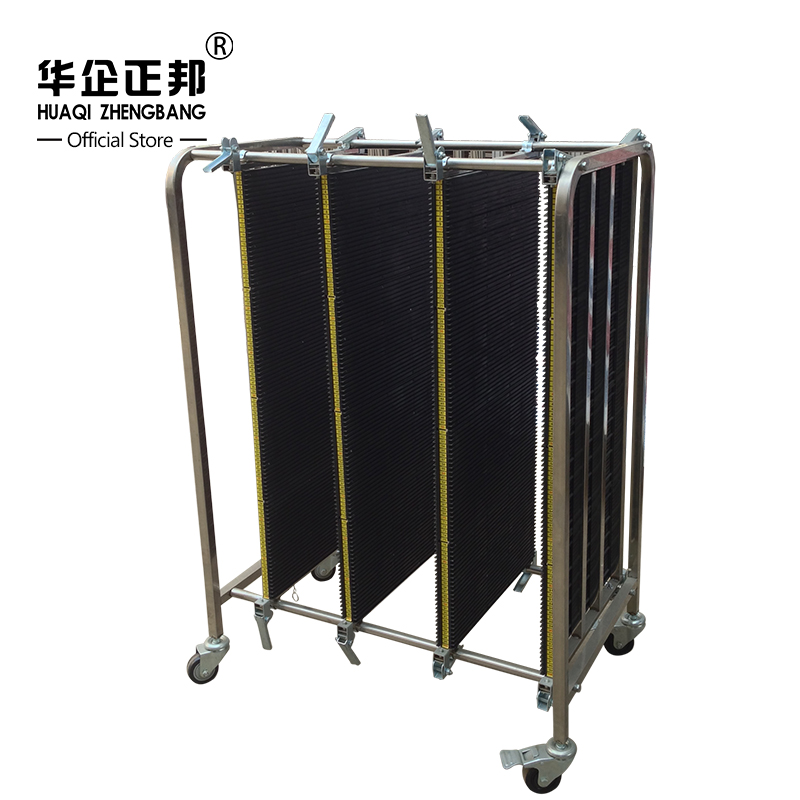 ESD Stainless Steel Trolley / ESD Turnover Cart / Antistatic PCB Plates Storage Trolley ZB-900J juki mechanical feeder cart storage trolley cart