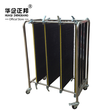 ESD Stainless Steel Trolley / ESD Turnover Cart / Antistatic PCB Plates Storage Trolley ZB-900J sobuy fkw22 sch kitchen cabinet kitchen storage trolley serving trolley with stainless steel top