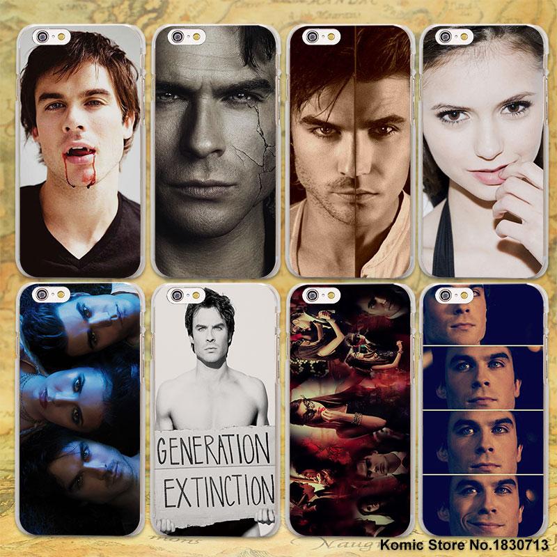 Popular Vampires Diaries Ian design transparent clear Case Cover for Apple iPhone 6 6s P ...