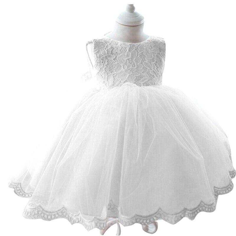 2017 baby girls christening dress princess tutu wedding for Wedding dresses for newborns