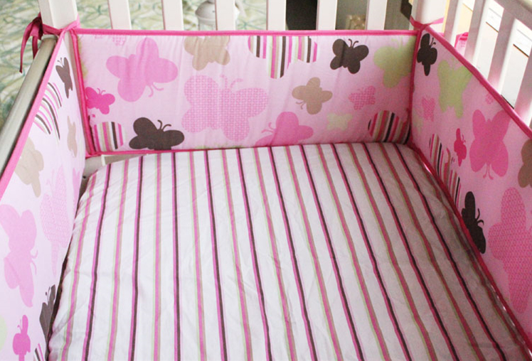 Promotion! 5PCS Embroidery baby bedding kit bed around baby 100% cotton Crib Around Safe Bumpers bed around ,(4bumper+bed cover)Promotion! 5PCS Embroidery baby bedding kit bed around baby 100% cotton Crib Around Safe Bumpers bed around ,(4bumper+bed cover)