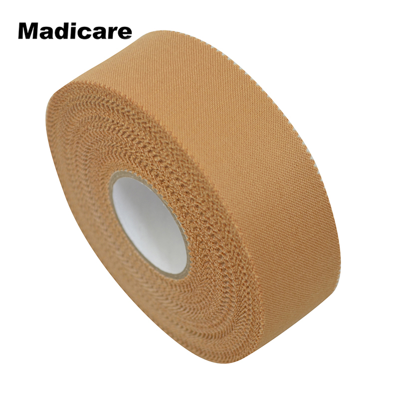 2 Pieces 2.5cm*13.7m Rayon Rigid Strapping Sports Tape Like Leukotape Brace Ankle Support Survetement Football Team Tapes