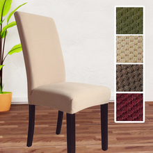 high quality thick knitted fabric universal spandex chair cover dining chair covers christmas banquet decoration stretch