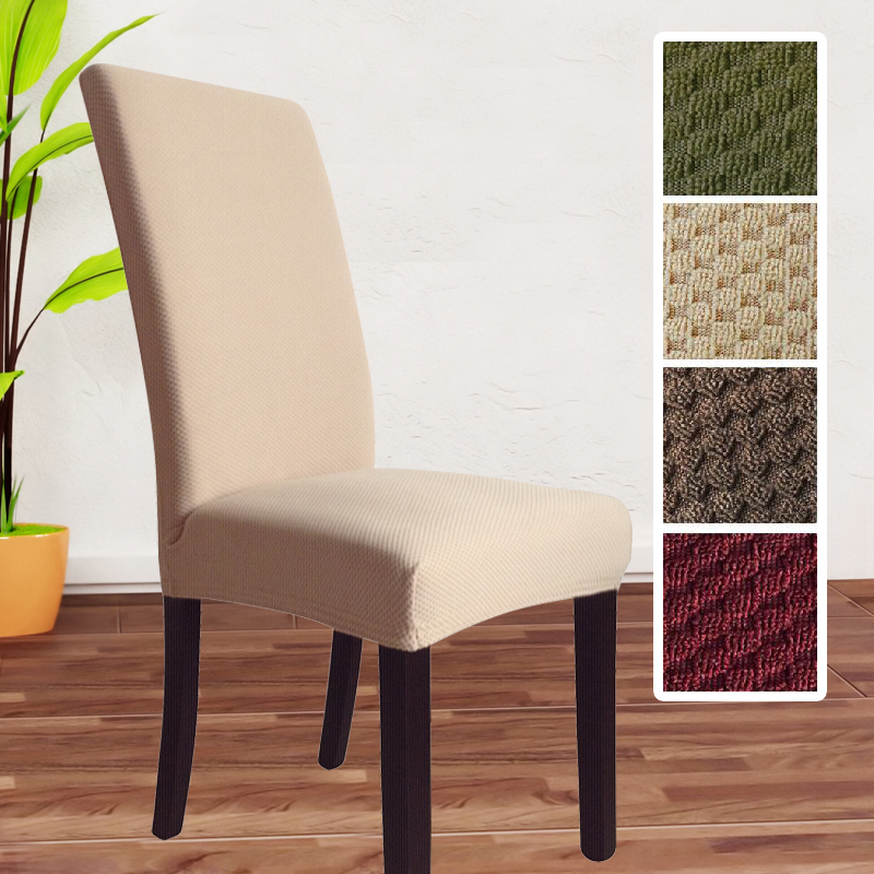 High Quality Thick Knitted Fabric Universal Spandex Chair Cover Dining Covers Christmas Banquet Decoration Stretch