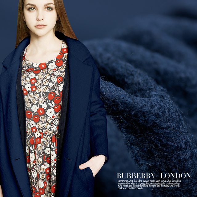 Extreme Blue Wool Knitted Wool Fabric Around A Sense Of Autumn And Winter Clothing Woolen
