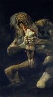 TOP pittura a olio di ARTE-Saturn Divorante Suo Figlio da Francisco de Goya pittura-100% dipinto a mano pittura a olio di repro su tela