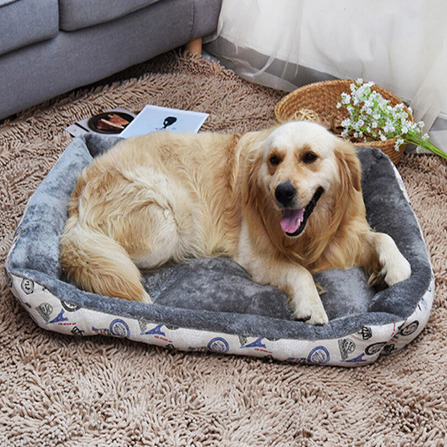 Removable Large Dog Bed Warm Winter Dog Beds House For Large Dogs Pet Cat  Sofa Mat