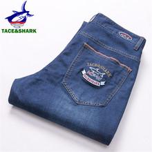 TACE&SHARK Brand Men Jeans High Quality Male Business Casual