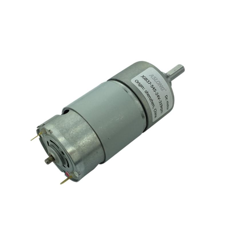 цена на JGB37-545 DC gear motor miniature low speed large torque motor reducer motor 12V 24V 36V 8RPM-1040RPM
