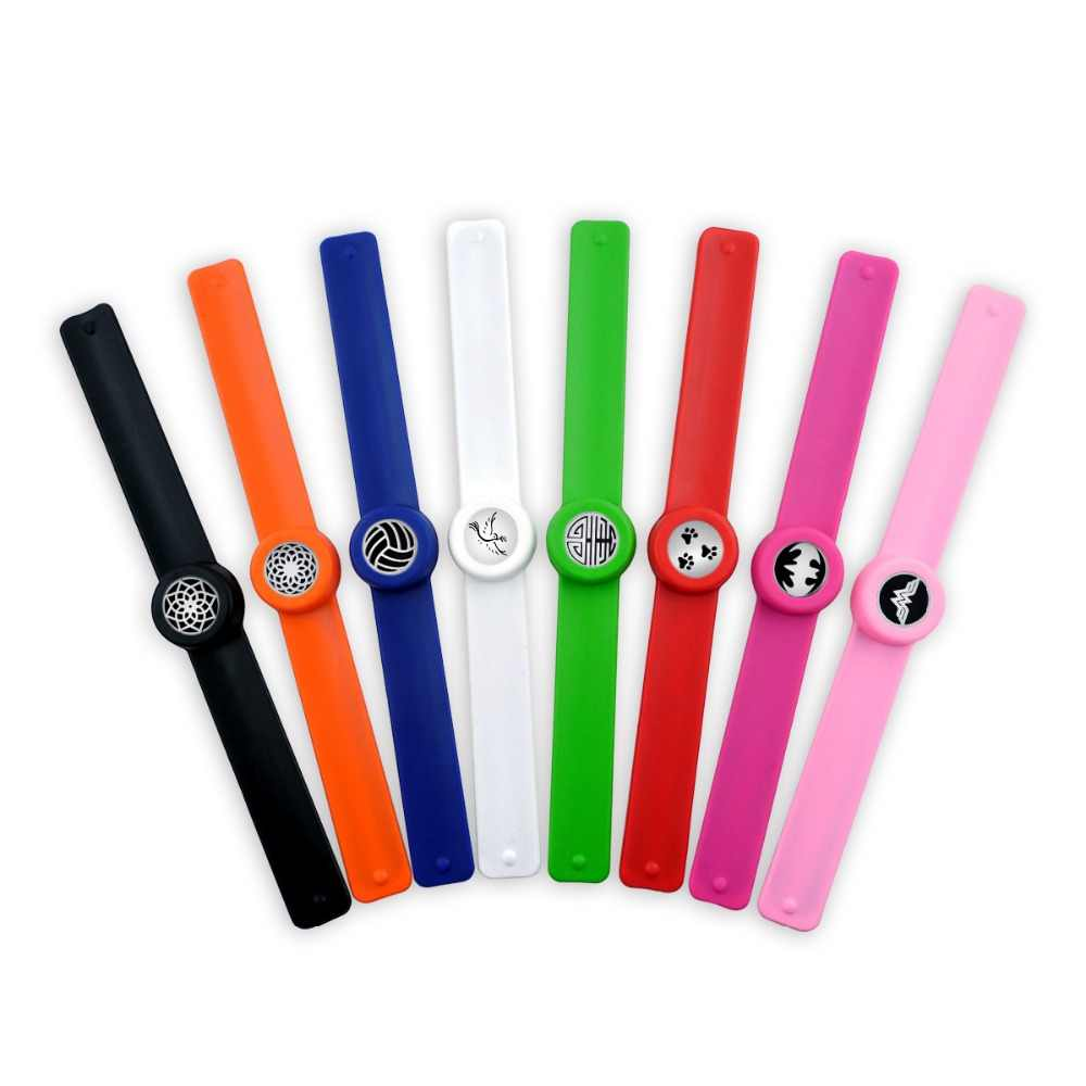 New Summer Kid Adjustable Mosquito Repellent Bracelet Essential Oil Diffuser Bracelet Children Men Women Aroma Silicone Bracelet