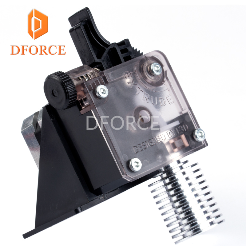 3D printer DFORCE titan Extruder for 3D printer reprap MK8 J-head bowden free shipping Optional i3 mounting bracket trianglelab 3d printer titan extruder new metal gear hobb hardened steel free shipping reprap mk8 i3