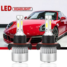 2Pcs H4 LED H7 H11 H1 H3 COB Chip S2 Auto Car Headlight 72W 8000LM High Low Beam All In One Automobiles Lamp 6500K 12V(China)