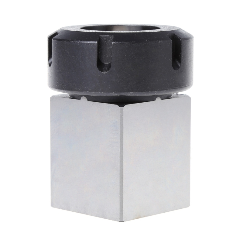OOTDTY ER-40 Square Collet Chuck Block Holder 3900-5125 For CNC Lathe Engraving Machine 1pc square er40 collet chuck block holder 3900 5125 for cnc lathe engraving machine cross hole drilling
