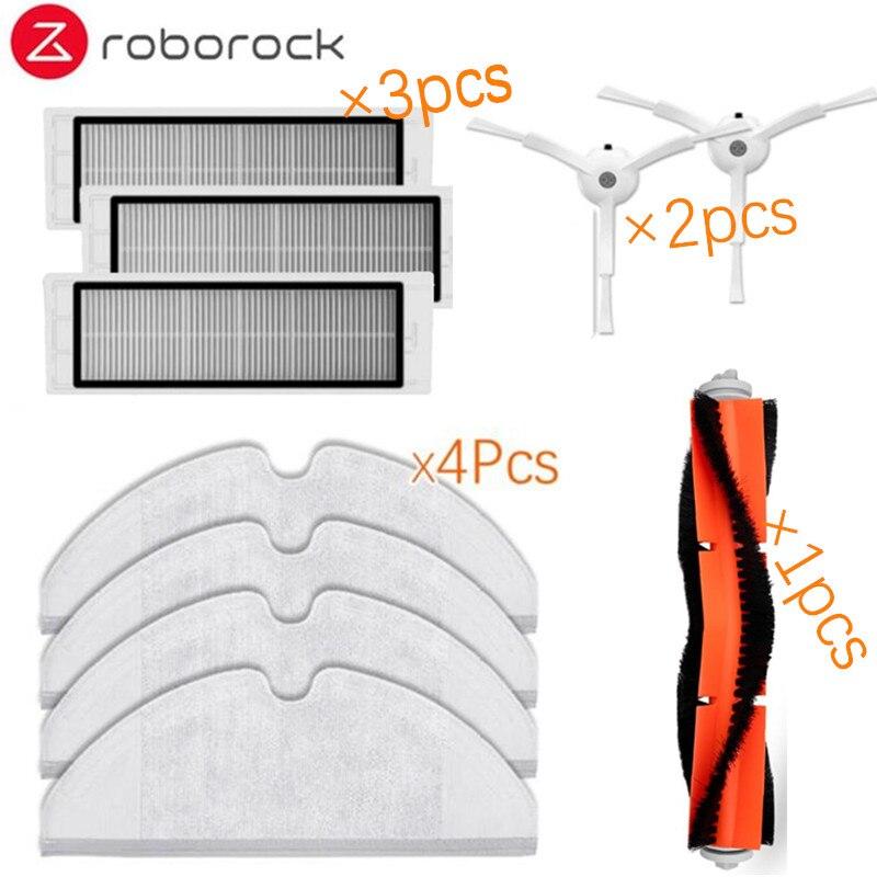 10pcs/lot New Main brush Hepa Filter Side brush Mop cloths Kit for Xiaomi mijia robot roborock s50 s51 roborock 2