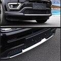 Автомобильные аксессуары для Jeep Compass второго поколения 2017 2018  внешняя ABS Хромированная передняя решетка  защитная накладка на бампер  1 шт.