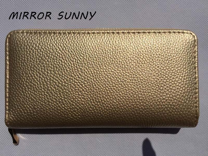MIRROR SUNNY New PU women long wallet zipper wallet card
