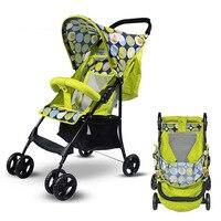 Brand Super Lightweight Folding Umbrella Car Baby Stroller Travel Portable Four wheel Buggies Baby Carriage Stroller Bassinet
