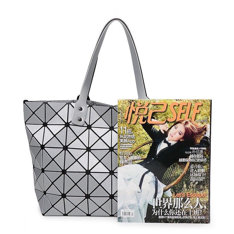 474ae9d0b9 New Brand Messenger Bag Candy Colors Diamond Women Fashion Shoulder Bag  Geometry Sequins Mirror Plain Folding Bags Women