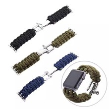 New Outdoor Survival Watchband Bracelet Military Quality Nylon for apple 38mm 42mm Watch Strap Watch Accessories Free Shipping