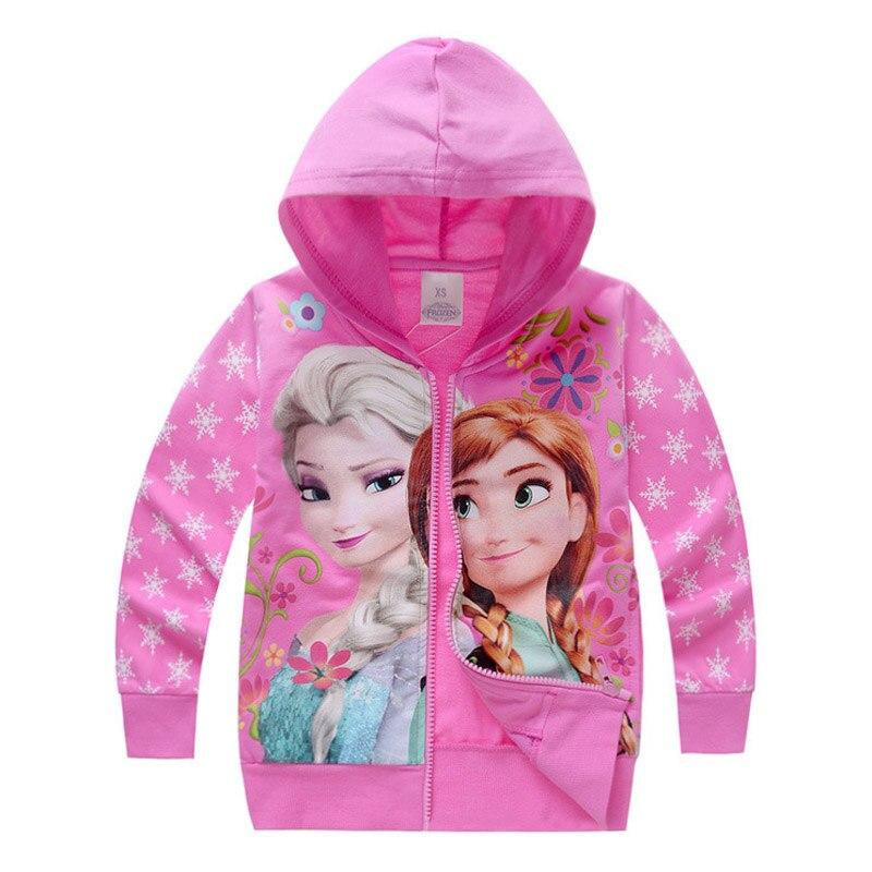 2017 Kids Girls Jacket Baby Girl Clothes Anna Elsa Fall Coat Roupas Infantis Menina Girls Casacos Children Casaco Manteau Fille