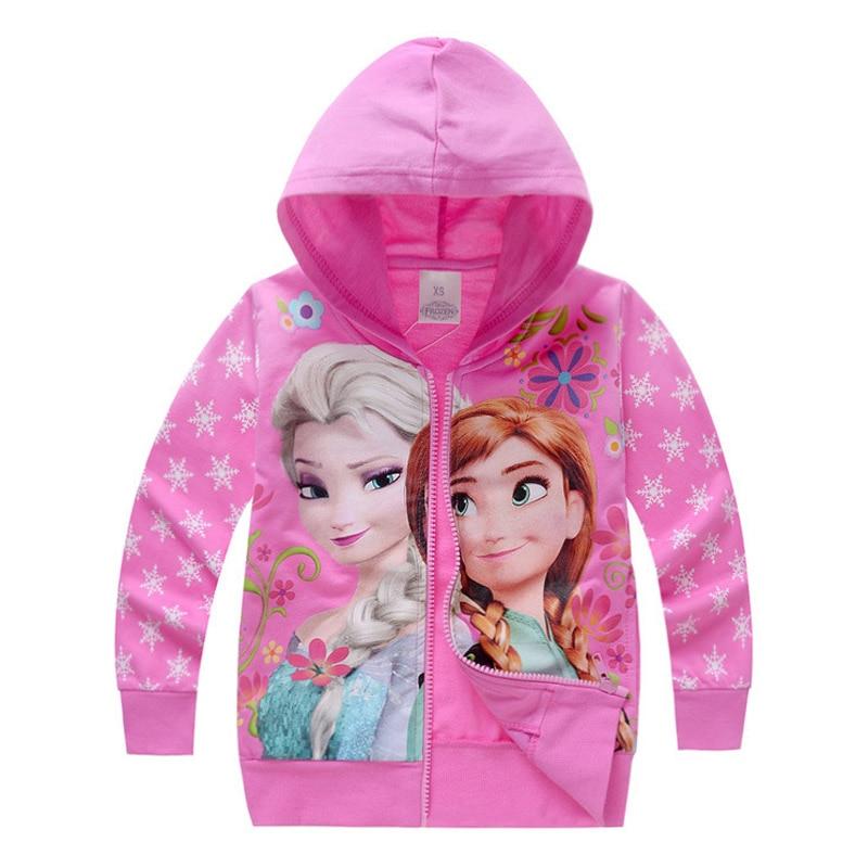 купить 2017 Kids Girls Jacket Baby Girl Clothes Anna Elsa Fall Coat Roupas Infantis Menina Girls Casacos Children Casaco Manteau Fille по цене 496.38 рублей
