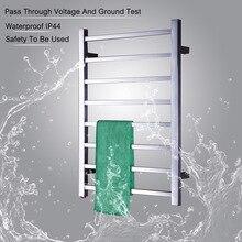 Nowy projekt elektryczny podgrzewany wieszak na ręcznik cieplej Rack Square Tube suszarka na ręczniki grzejnik popularny typ podgrzewany wieszak na ręcznik szyny TW SQ8