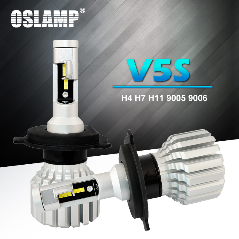 Oslamp <font><b>LED</b></font> H4 Car Bulbs 6500K Auto <font><b>H7</b></font> <font><b>LED</b></font> <font><b>Headlight</b></font> Fan-less Head Lamps SUV 50W CSP Chips H11 Lamp 9005 9006 <font><b>led</b></font> Bulbs image