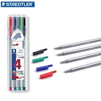 STAEDTLER 334 SB4 Drawing Pen For Manga Pigment Fine Liner 4pcs Gel Pen Sketch Drawing Color