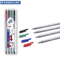 STAEDTLER 334 SB4 Drawing Pen For Manga Pigment Fine Liner 4pcs Gel Pen Sketch Drawing Color