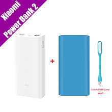 Original Xiaomi Power Bank 2 20000mAh Portable Charger Dual USB Mi Powerbank External Battery Pack for