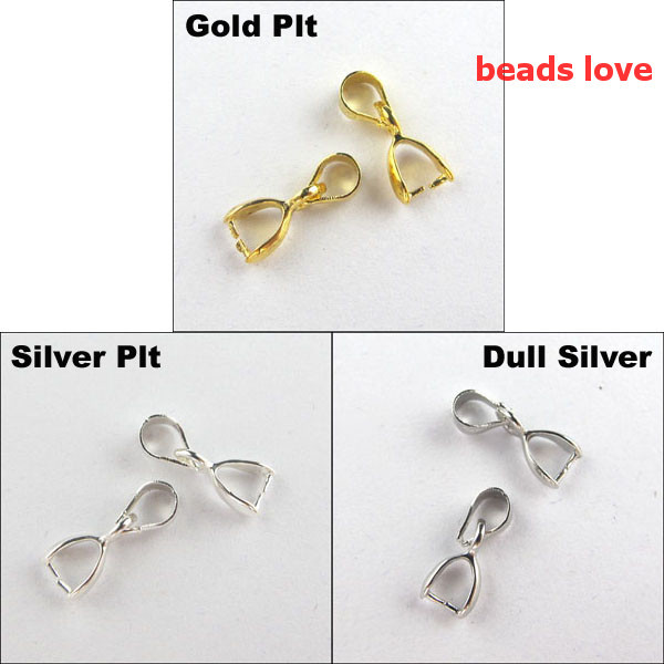 50pcslot pick 4 colors jewelry necklace pinch bail pendant clasp 50pcslot pick 4 colors jewelry necklace pinch bail pendant clasp connector 18x7mmw02923free shipping in jewelry findings components from jewelry mozeypictures Image collections