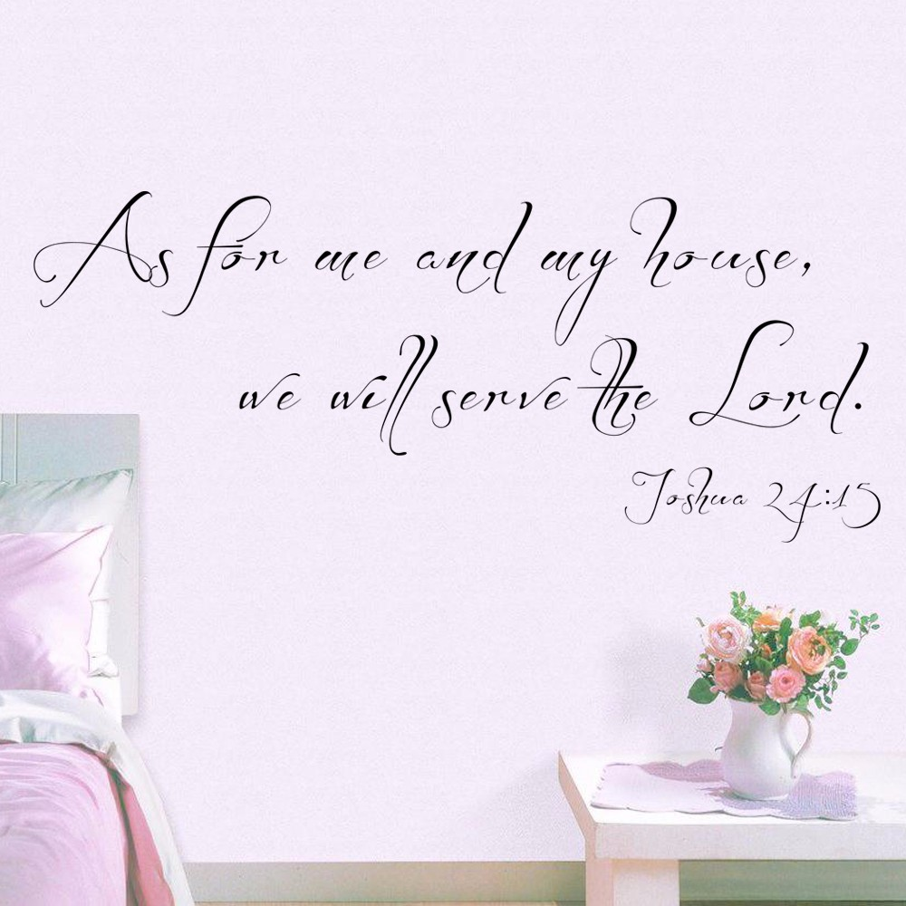 compare prices on wall decal quotes christian online shopping buy as for me and my house wall decal scripture quote decal vinyl lettering wall