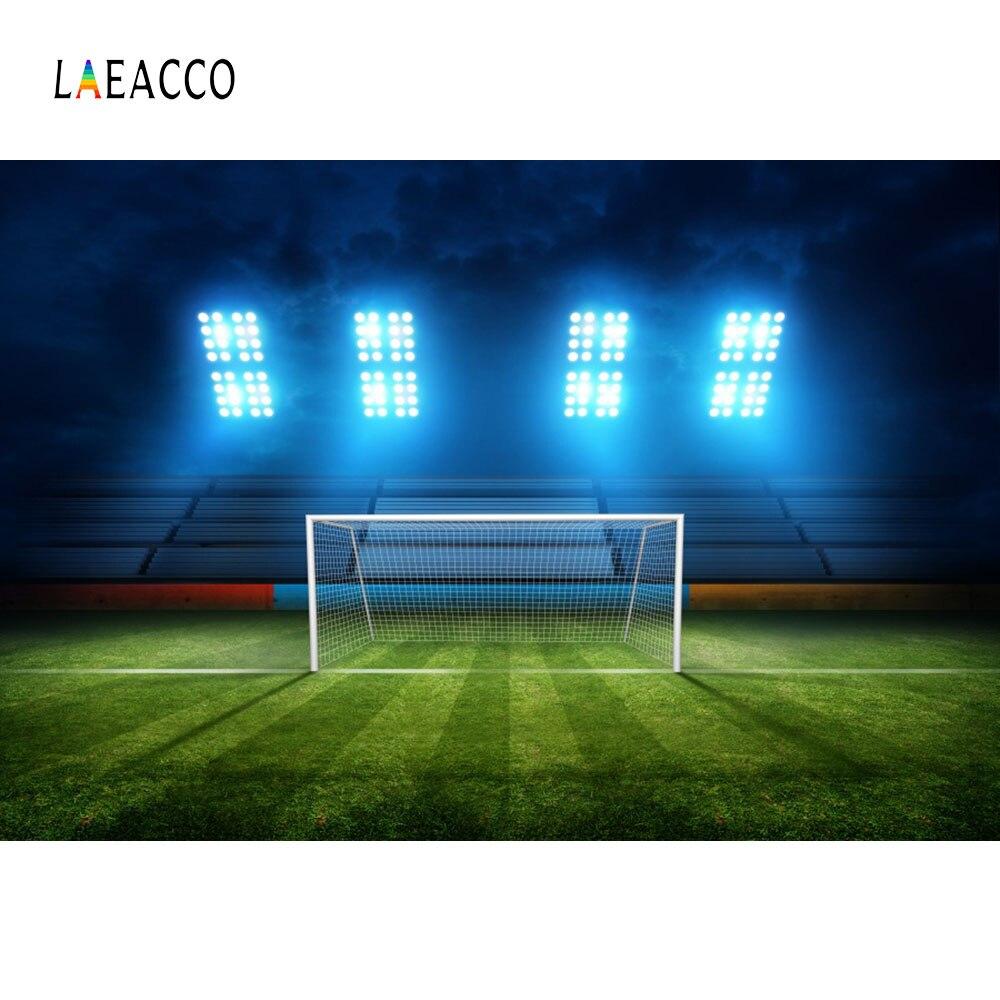 Laeacco Estádio de Futebol Campo de Futebol Objetivo Interior Backdrops Para Estúdio de Fotografia Fotografia Fundos Fotográficos Personalizados Do Bebê