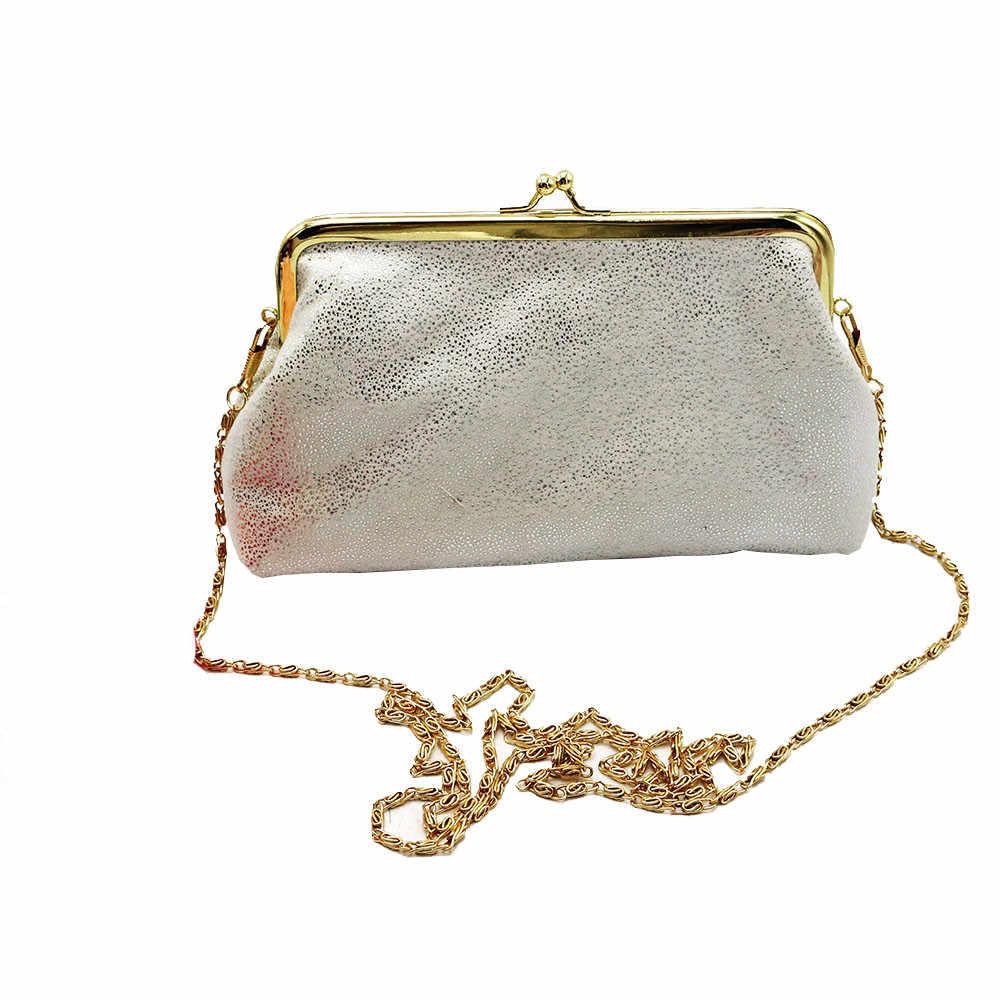 Wanita Musim Gugur dan Musim Dingin Baru Wanita Tas Bersinar Berkilau Kecil Dompet Pengait Dompet Clutch Bag Dompet dan 15