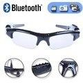 Esporte sem fio bluetooth câmera óculos óculos de sol dvr gravador de vídeo dv camcorder w/fone de ouvido mp3 apoio tf cartão função