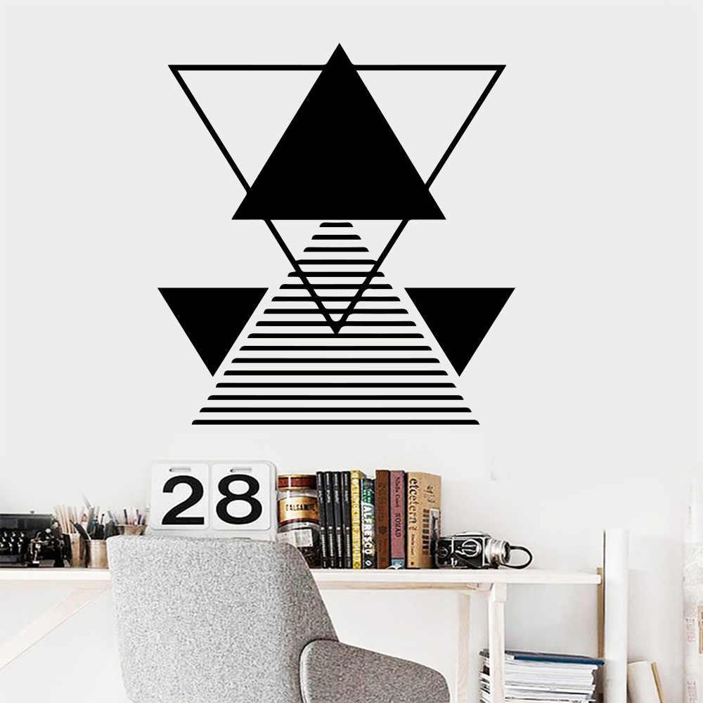 3d パターン形状数学壁ステッカースタディルーム教室家の装飾ビニール