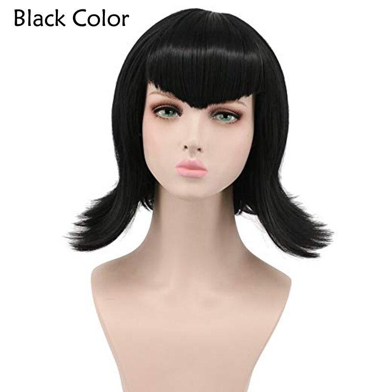 Moive Hotel Transylvania Mavis Black wig Fashion women Cosplay Party Cos Wig + Wig Cap
