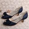 15 Colors Custom Handmade Red Low Heel Women Shoes Peep Toe Autumn Spring Free Shipping