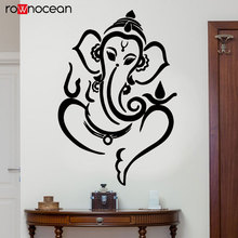 Ganesha Elephant God Hindu Hinduism Wall Stickers Vinyl Art Home Decor For Living Room Bedroom Removable Interior Murals YD09